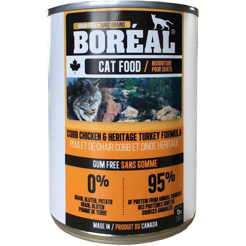 Boreal Canned Cat Food Adult Cobb Chicken & Heritage Turkey, Canned Cat Food, Boreal Pet Food - PetMax Canada