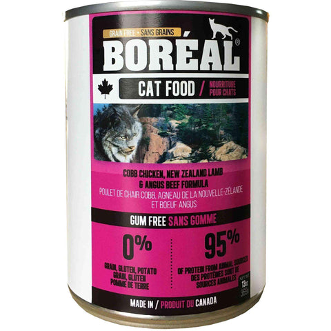 Boreal Canned Cat Food Adult Cobb Chicken, Lamb & Angus Beef, Canned Cat Food, Boreal Pet Food - PetMax Canada
