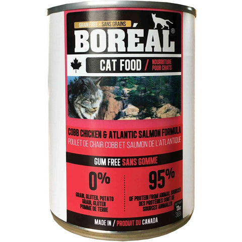 Boreal Canned Cat Food Adult Cobb Chicken & Atlantic Salmon, Canned Cat Food, Boreal Pet Food - PetMax Canada