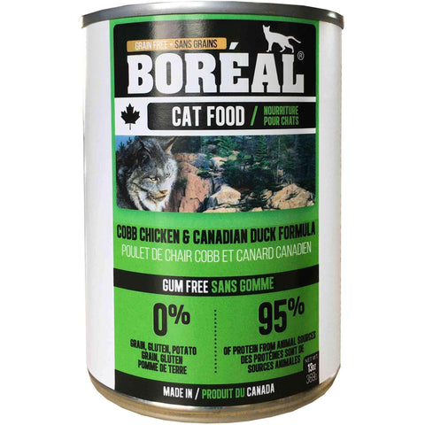 Boreal Canned Cat Food Adult Cobb Chicken & Canadian Duck, Canned Cat Food, Boreal Pet Food - PetMax Canada