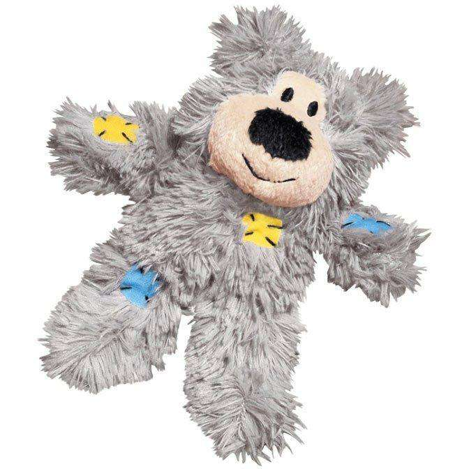 Kong Cat Softies Patchwork Bear Grey Cat Toys - PetMax