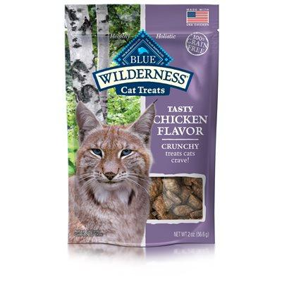 Blue Wilderness Chicken Flavor Crunchy Treats  Cat Treats - PetMax