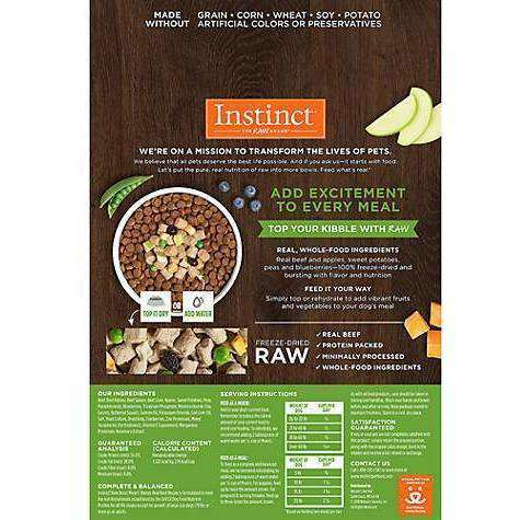 Nature's Variety Instinct Raw Boost Mixers Blends Beef