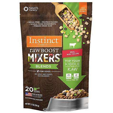 Nature's Variety Instinct Raw Boost Mixers Blends Beef  Dog Food - PetMax