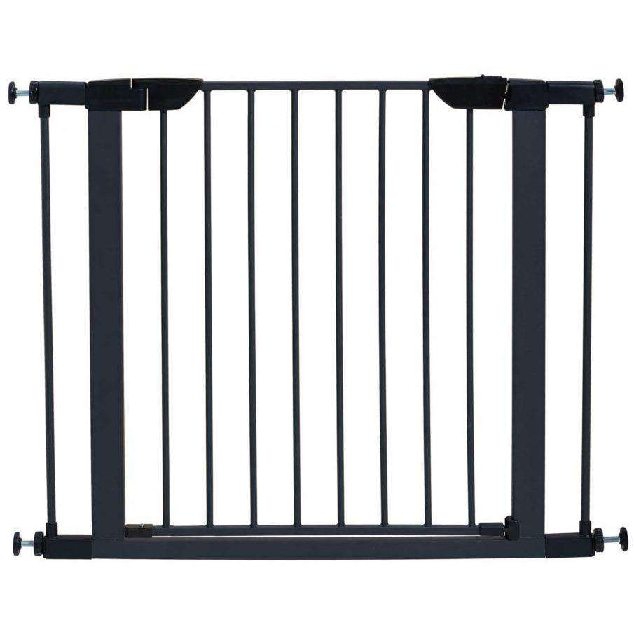 Midwest Pet Gate Graphite Steel 30 H x 29.5 - 38 W Inches Pet Gates - PetMax