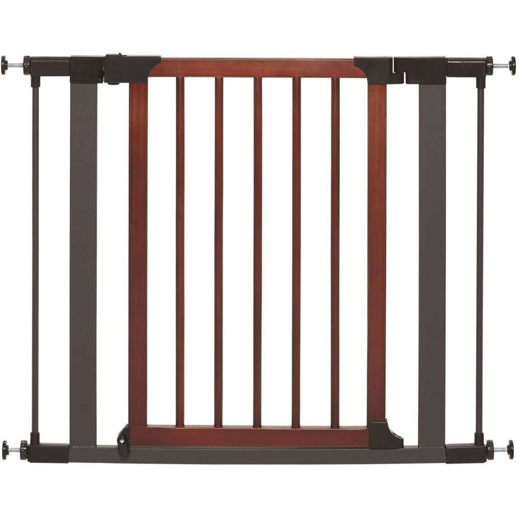 Midwest Pet Gate Wood & Graphite Steel 30 H x 29.5 - 38 W Inches Pet Gates - PetMax