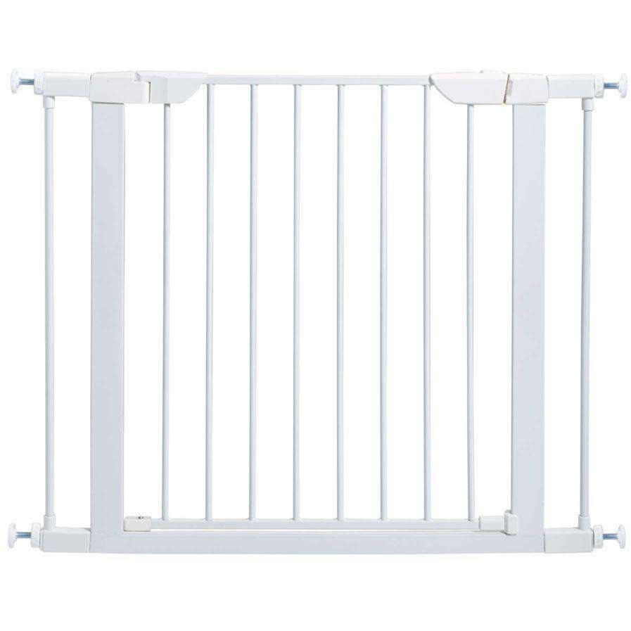 Midwest Pet Gate White Steel 30 H x 29.5 - 38 W Inches Pet Gates - PetMax