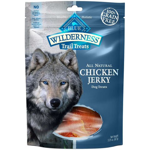 Blue Wilderness Dog Trail Treats Chicken Jerky, Dog Treats, Blue Buffalo Company - PetMax Canada