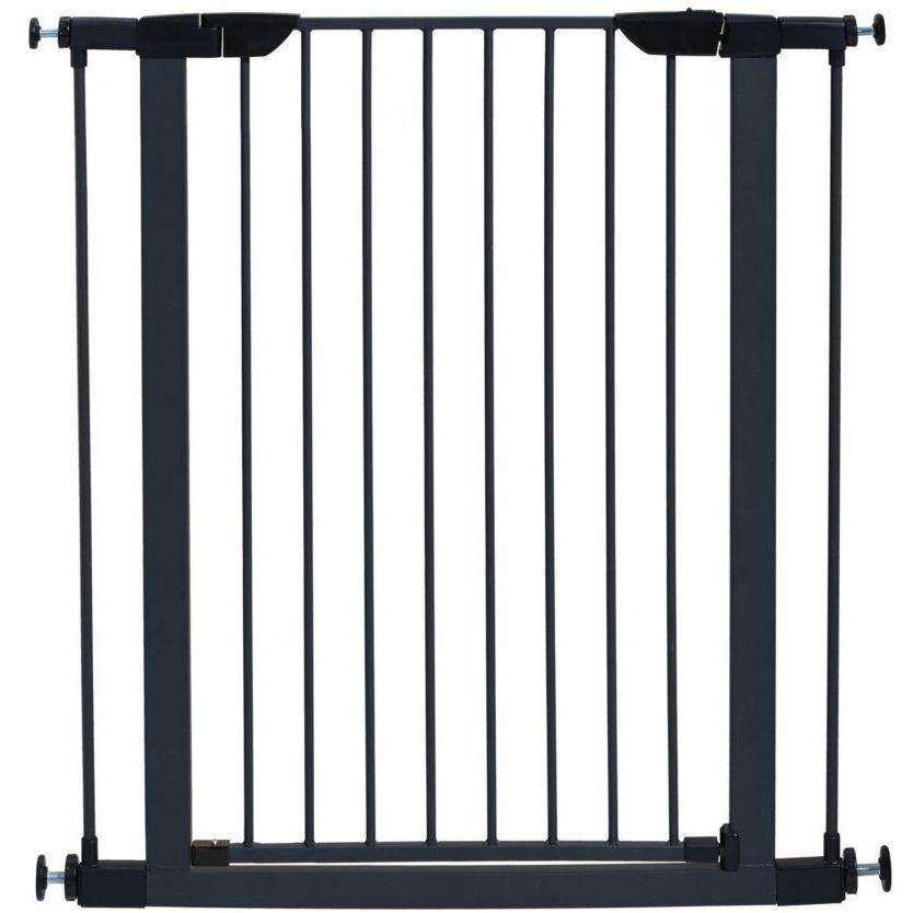 Midwest Pet Gate Graphite Steel 39 H x 29.5 - 38 W Inches Pet Gates - PetMax