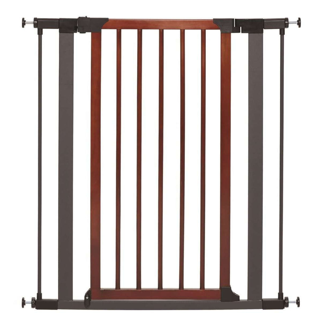 Midwest Pet Gate Wood & Graphite Steel 39 H x 29.5 - 38 W Inches Pet Gates - PetMax