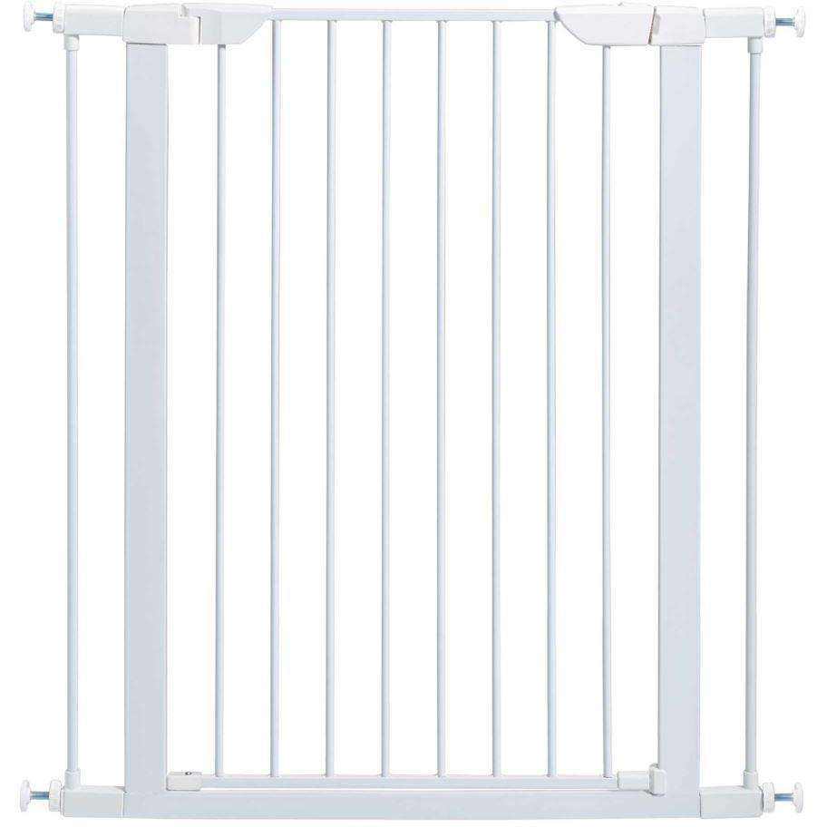 Midwest Pet Gate White Steel 39 H x 29.5 - 38 W Inches Pet Gates - PetMax