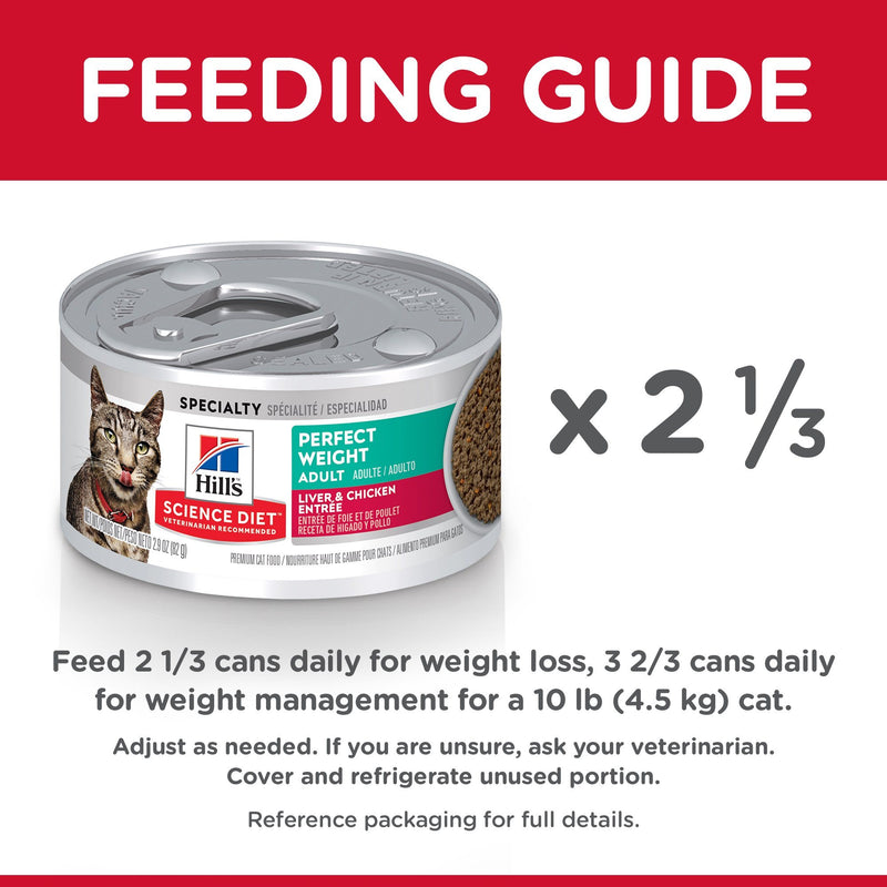 Science Diet Canned Cat Food Perfect Weight Liver & Chicken - Case of 24 | Canned Cat Food -  pet-max.myshopify.com