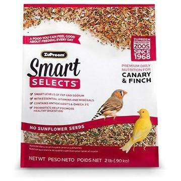 Zupreem Smart Selects Food Canary & Finch, Bird Food, Zupreem Premium Nutritional Product - PetMax