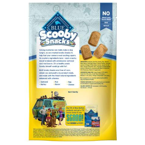 Blue Buffalo Scooby Snacks Baked Bacon, Egg & Cheese Dog Treats, 226g bag [variant_title] [option1] | Dog Treats Blue Buffalo Treats -  PetMax.ca