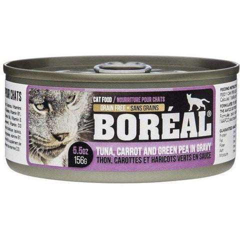 Boreal Cat Canned Food Tuna Red Meat Gravy Carrot & Pea, Canned Cat Food, Boreal Pet Food - PetMax