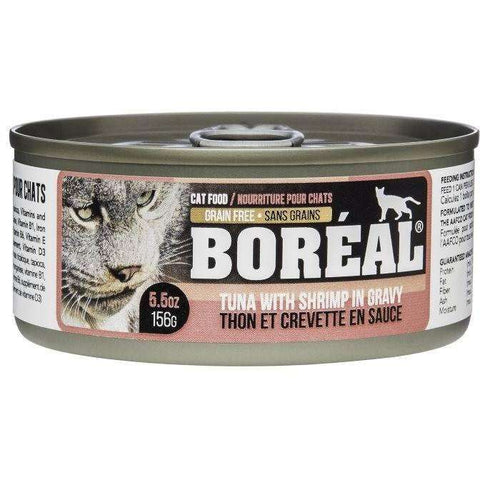 Boreal Canned Cat Food Tuna Red Meat Gravy With Shrimp, Canned Cat Food, Boreal Pet Food - PetMax Canada