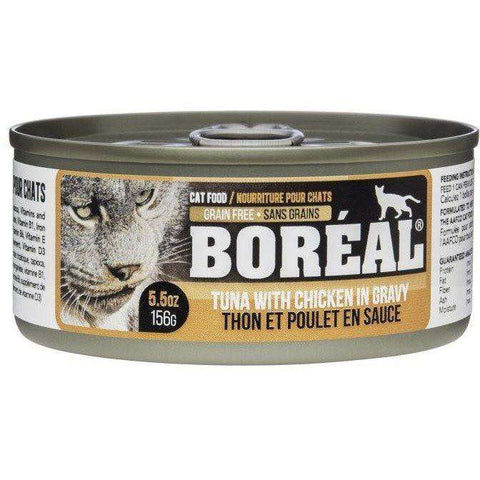 Boreal Canned Cat Food Tuna Red Meat Gravy With Chicken, Canned Cat Food, Boreal Pet Food - PetMax Canada