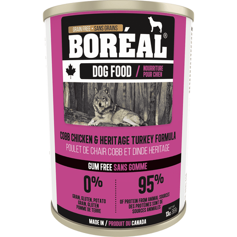 Boreal Canned Dog Food Chicken & Heritage Turkey, Canned Dog Food, Boreal Pet Food - PetMax Canada