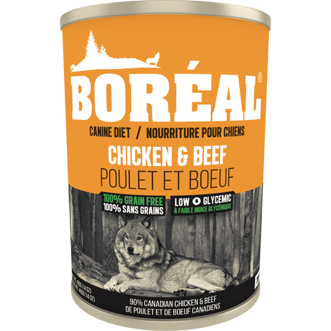 Boreal Canned Dog Food Adult Chicken & Beef, Canned Dog Food, Boreal Pet Food - PetMax Canada