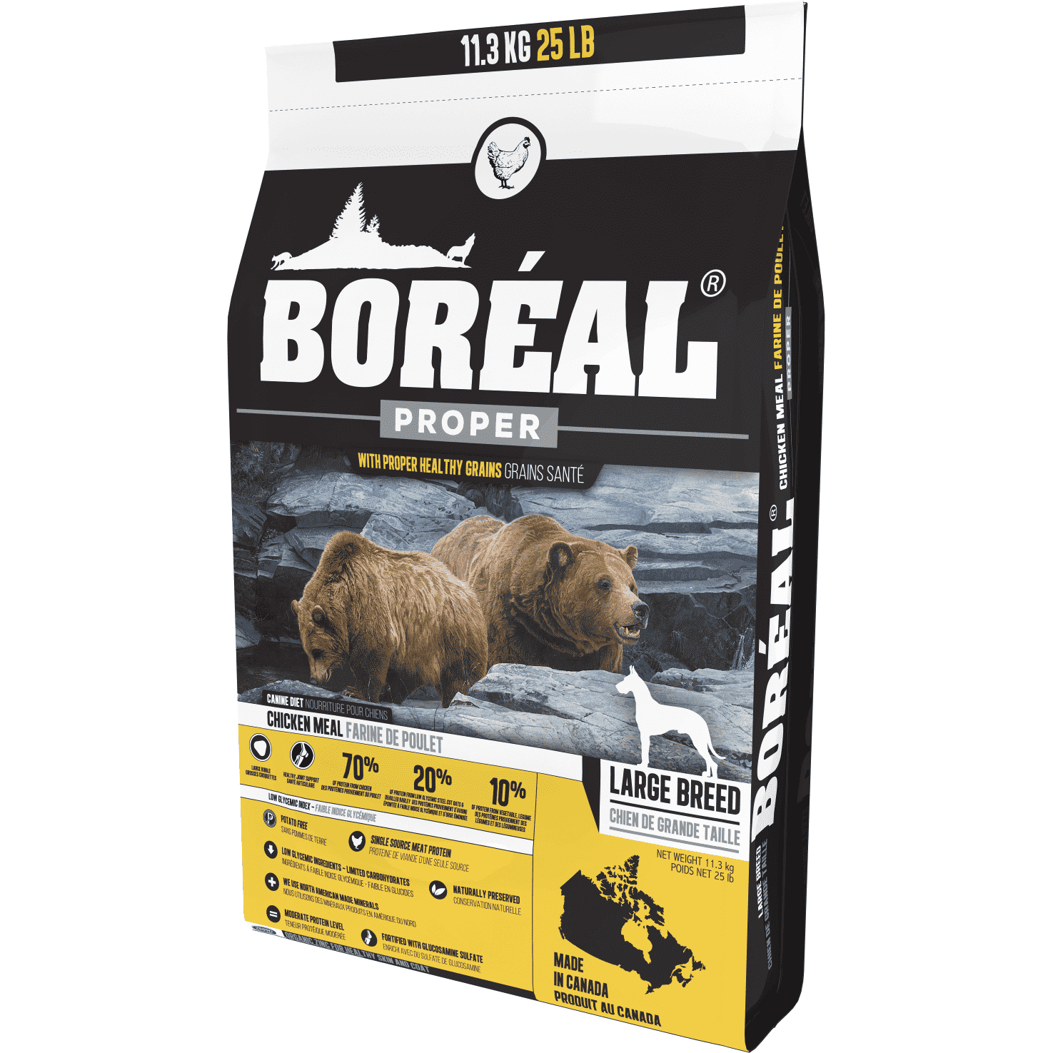 Boreal Dog Adult Proper Large Breed Chicken Dog Food [variant_title] [option1] - PetMax.ca