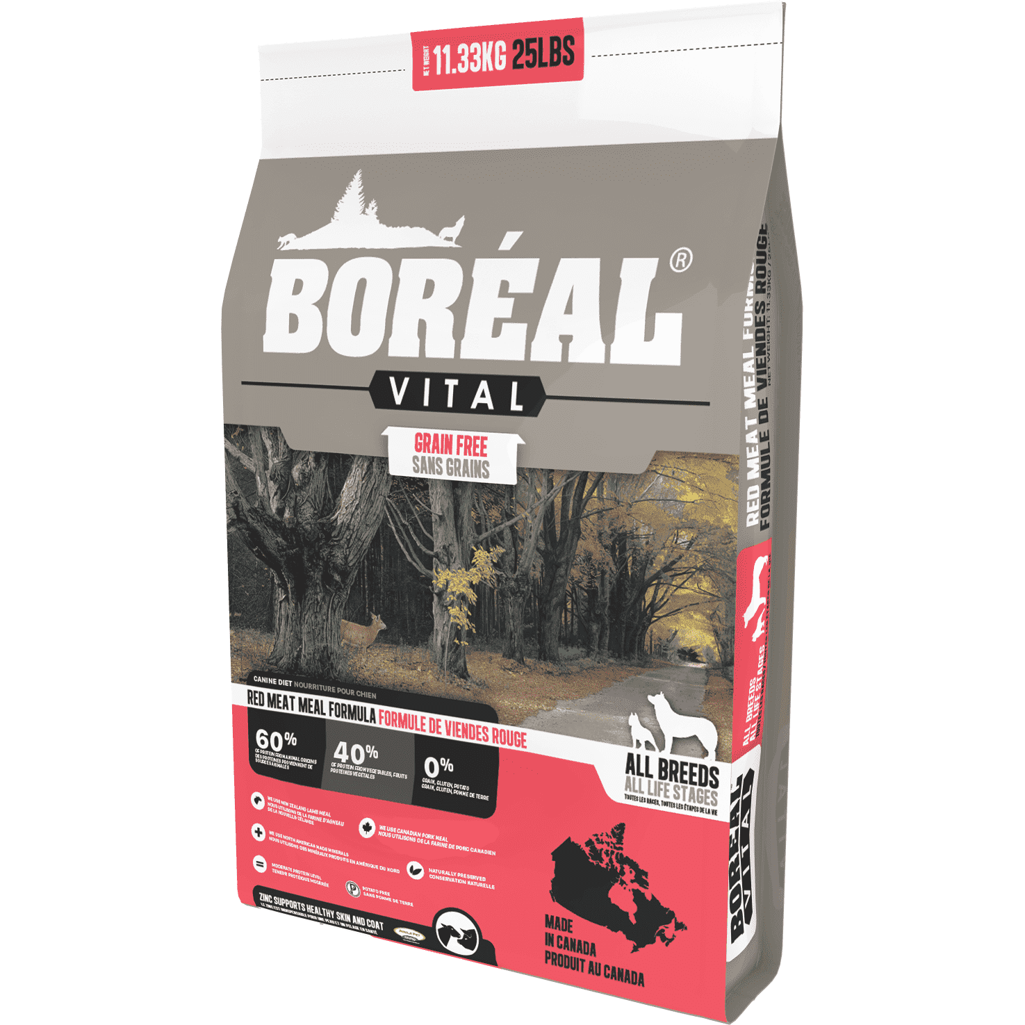 Boreal Vital Grain Free Red Meat Dog Food Dog Food [variant_title] [option1] - PetMax.ca