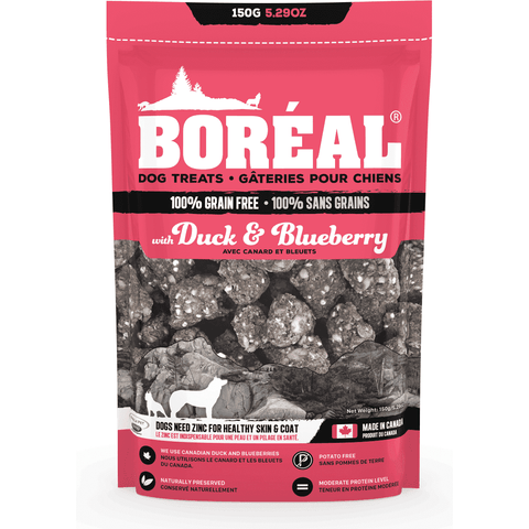 Boreal Grain Free Duck & Blueberry Dog Treats, Dog Treats, Boreal Pet Food - PetMax Canada