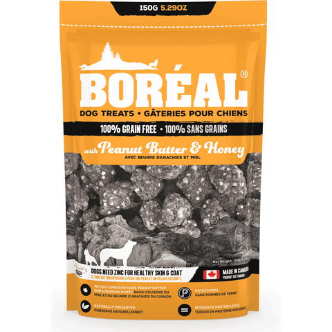 Boreal Grain Free Peanut & Honey Dog Treats, Dog Treats, Boreal Pet Food - PetMax Canada