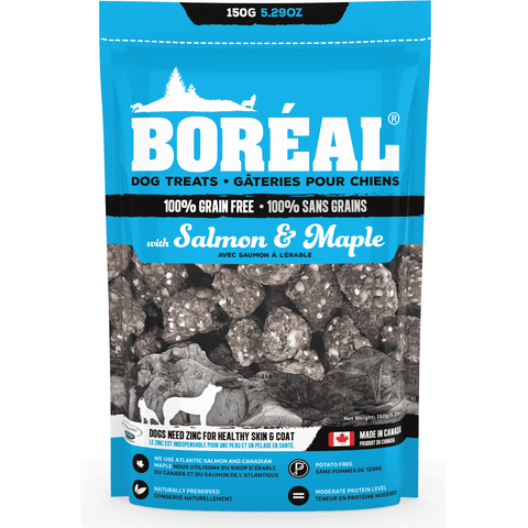 Boreal Grain Free Salmon & Maple Dog Treats, Dog Treats, Boreal Pet Food - PetMax Canada