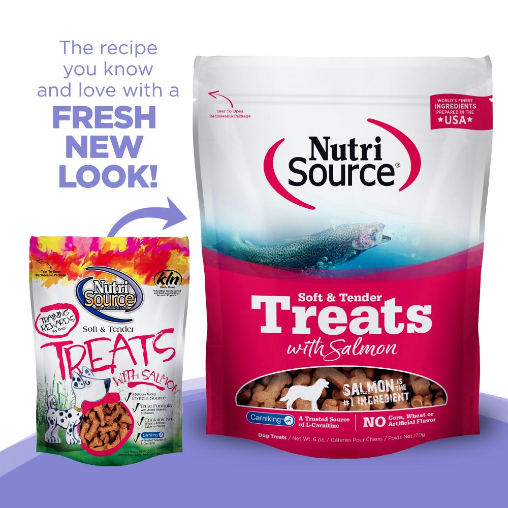 Nutri Source Tender Dog Treats Salmon  Dog Treats - PetMax