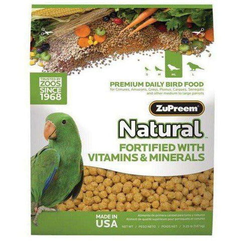 Zupreem Avian Maintenance Natural Parrot Conure, Bird Food, Zupreem Premium Nutritional Product - PetMax