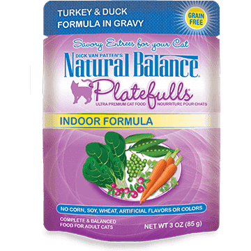 Natural Balance Platefulls Indoor Turkey & Duck | Canned Cat Food -  pet-max.myshopify.com