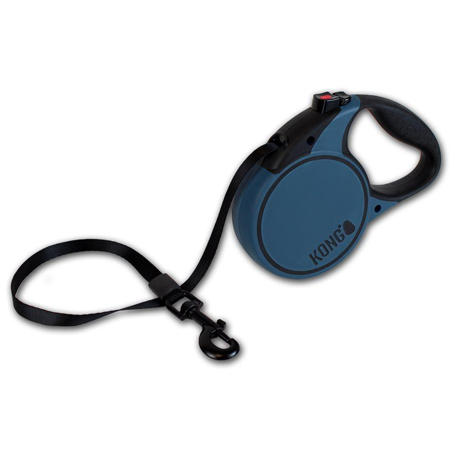 Kong Retractable Tape Leash Terrain Blue  Dog Leashes - PetMax