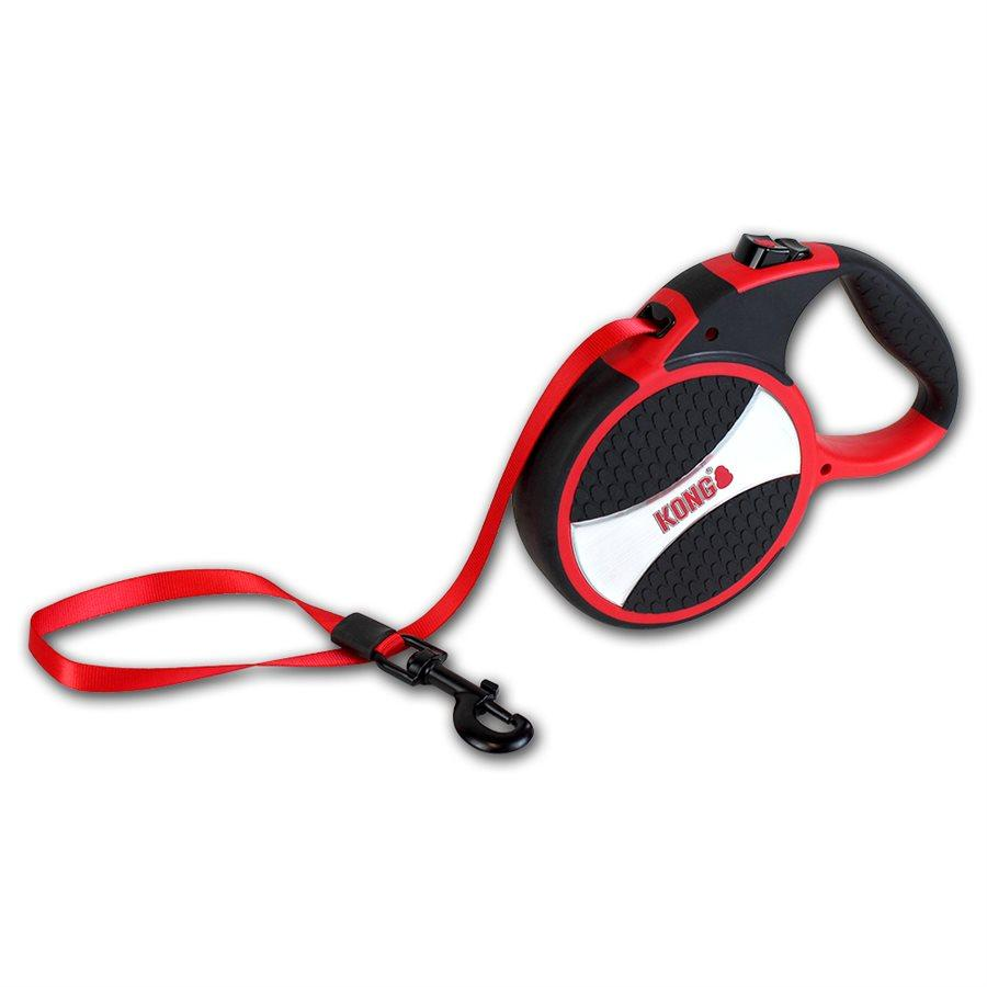Kong Retractable Tape Leash Explore Red  Dog Leashes - PetMax