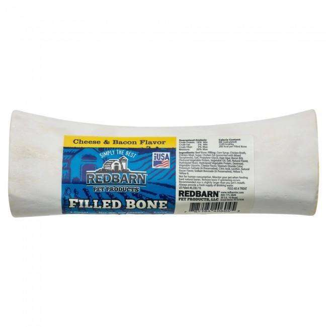Red Barn Filled Bone Cheese N'Bacon Large, Chew Products, Red Barn Pet Products - PetMax Canada