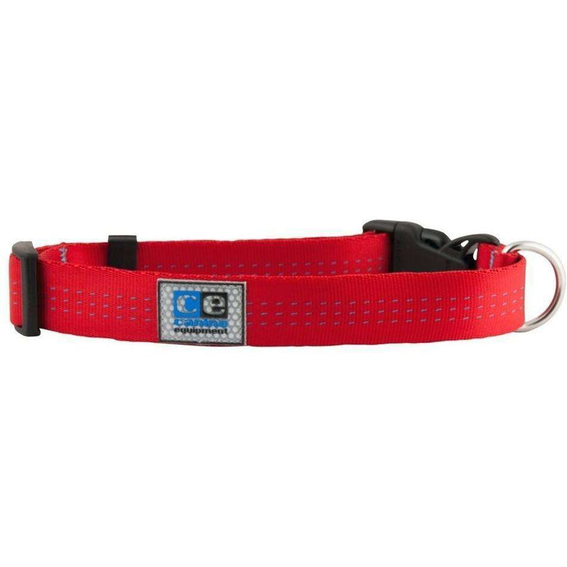 Canine Equipment Utility Clip Collar Red  Dog Collars - PetMax