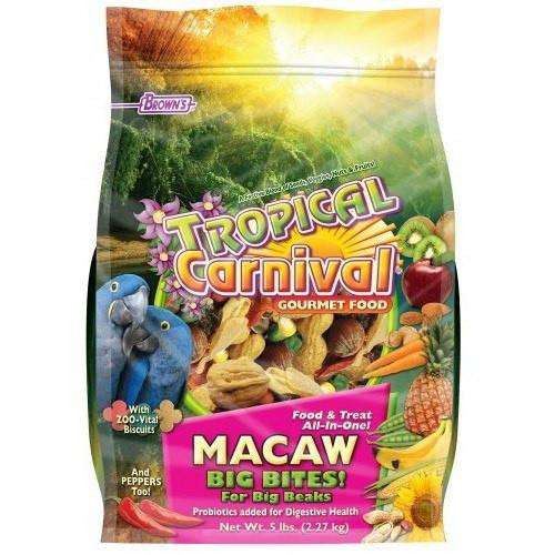 Brown's Tropical Carnival Macaw Big Bites, Bird Food, F.M. Bown's Sons Inc. - PetMax Canada