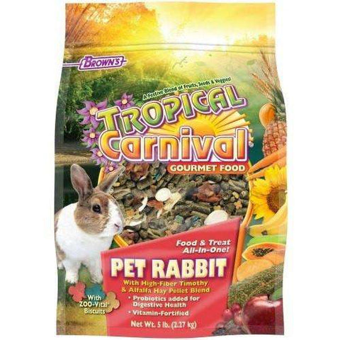 Brown's Tropical Carnival Rabbit Food, Small Animal Food Dry, F.M. Bown's Sons Inc. - PetMax
