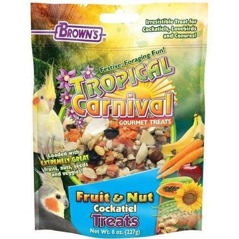 Brown's Extreme Cockatiel Fruit N Nut, Bird Treats, F.M. Bown's Sons Inc. - PetMax