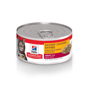 Hill's Science Diet Adult Savory Chicken Canned Cat Food - Case of 24 | Canned Cat Food -  pet-max.myshopify.com
