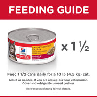 Hill's Science Diet Adult Savory Chicken Canned Cat Food  Canned Cat Food - PetMax
