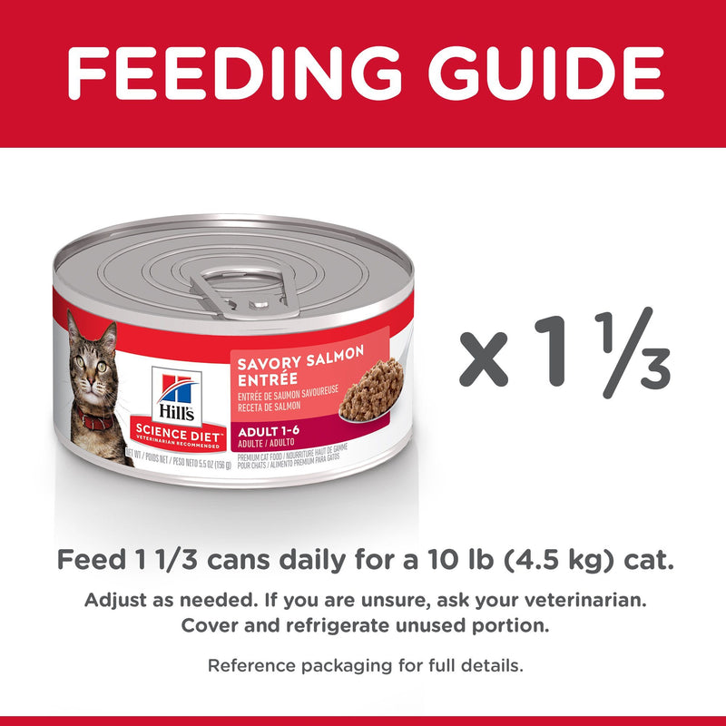 Science Diet Canned Cat Food Adult Salmon  Canned Cat Food - PetMax