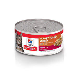 Science Diet Canned Cat Food Adult Turkey & Liver - Case of 24  Canned Cat Food - PetMax