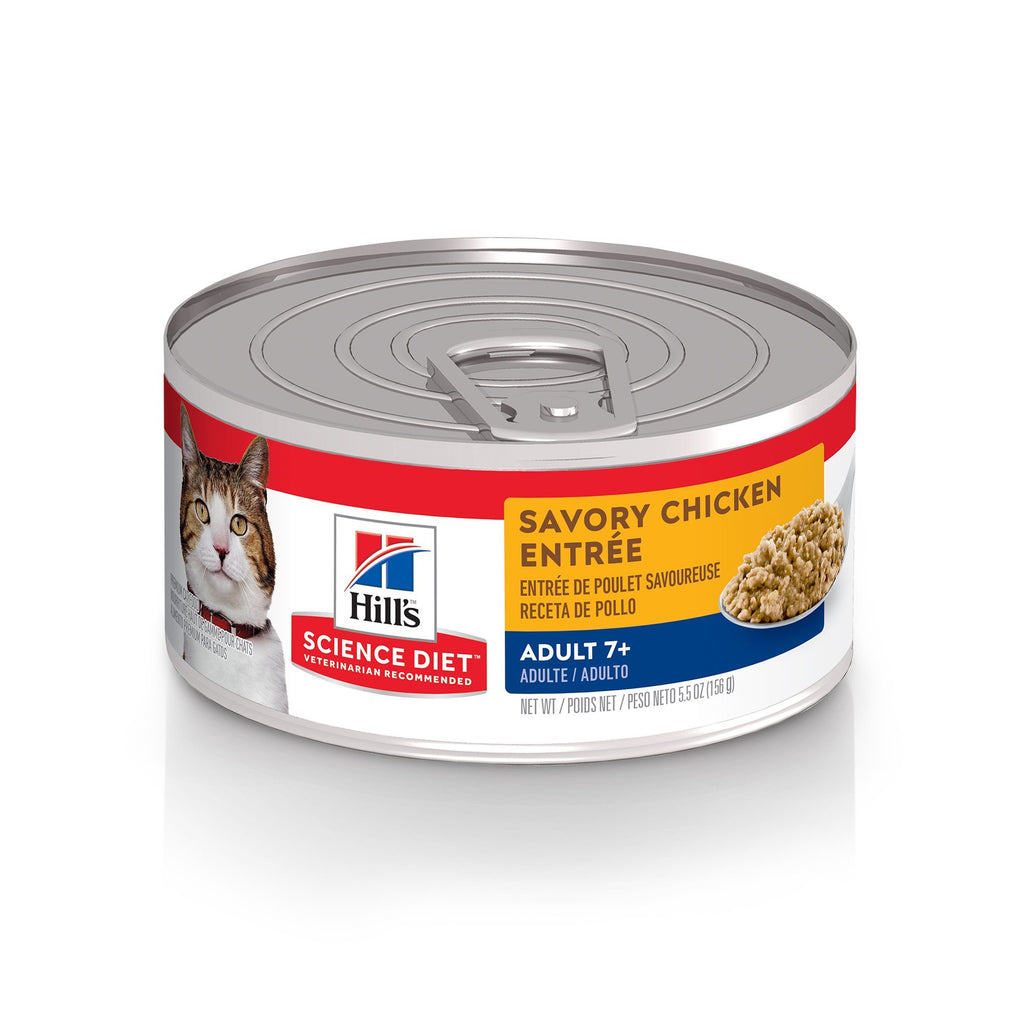 Hill's Science Diet Adult 7+ Savory Chicken Canned Cat Food  Canned Cat Food - PetMax