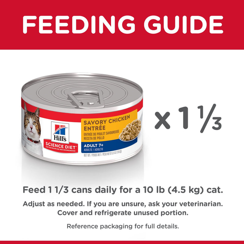 Hill's Science Diet Adult 7+ Savory Chicken Canned Cat Food - Case of 24 | Canned Cat Food -  pet-max.myshopify.com