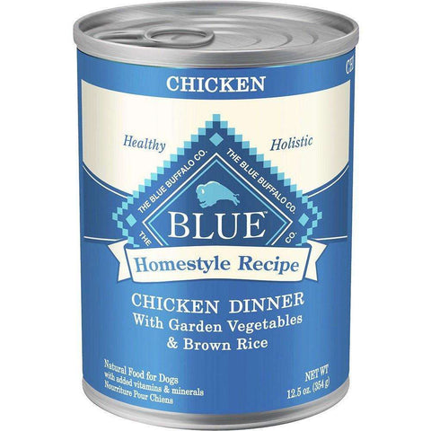 Blue Buffalo Homestyle Canned Dog Food Chicken Dinner, Canned Dog Food, Blue Buffalo Company - PetMax Canada