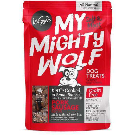 Waggers My Mighty Wolf Dog Treats Pork | Dog Treats -  pet-max.myshopify.com