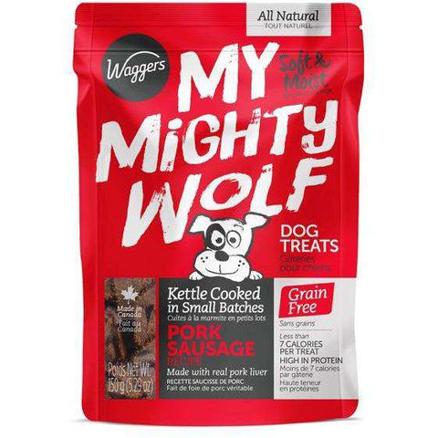 Waggers My Mighty Wolf Dog Treats Pork, Dog Treats, Waggers Pet Products - PetMax Canada