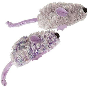 Kong Cat With An Attitude 2 Purple & Grey Mice  Cat Toys - PetMax