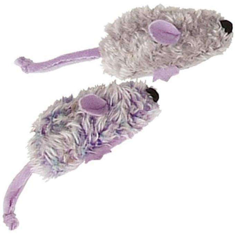 Kong Cat With An Attitude 2 Purple & Grey Mice, Cat Toys, Kong Company - PetMax Canada
