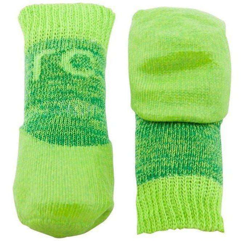 Pawks Sport Indoor/Outdoor Socks Lime Heather, Dog Clothing, Spring Collection - PetMax